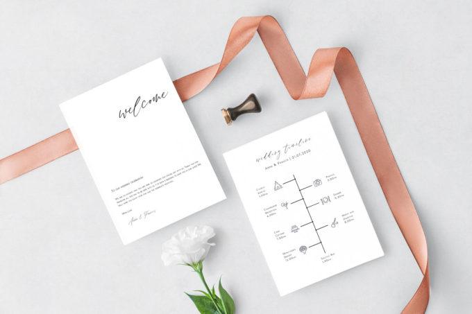 wedding timeline invites